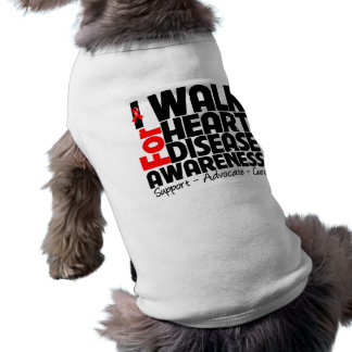I Walk For Heart Disease Awareness Sleeveless Dog Shirt