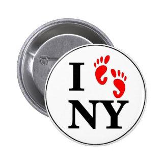 I Walk NY 6 Cm Round Badge
