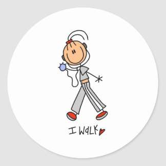 I Walk Round Sticker