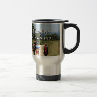 I walked El Camino, Spain (caption) Travel Mug