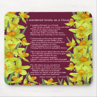 I WANDERED LONELY AS A CLOUD MOUSE PAD