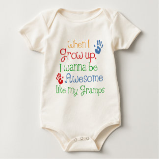 I Wanna Be Awesome Like My Gramps Baby Bodysuit