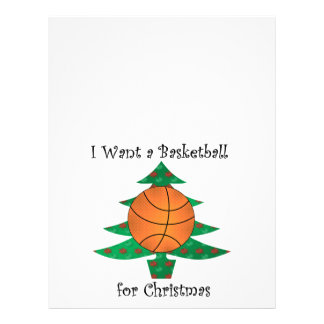 I want a basketball for Christmas Full Color Flyer