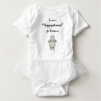 I want a hippopotamus for Christmas Baby Bodysuit