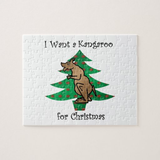 I want a kangaroo for christmas puzzles