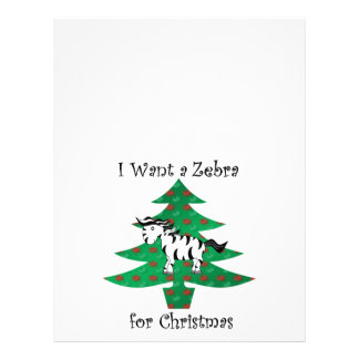 I want a zebra for christmas 21.5 cm x 28 cm flyer
