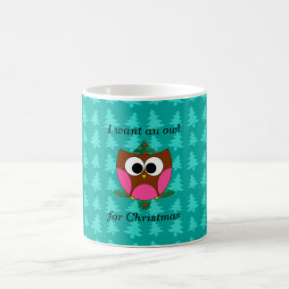 I want an owl for christmas mugs