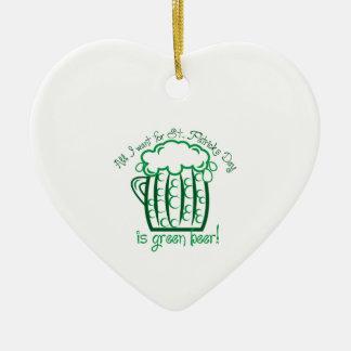 I Want Beer Ceramic Heart Decoration