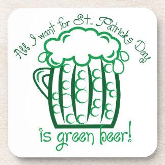 I Want Beer Drink Coaster