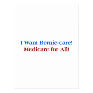 I want Bernie-Care, Medicare for All! Postcard