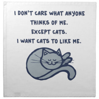 I want Cats to Like Me Napkin