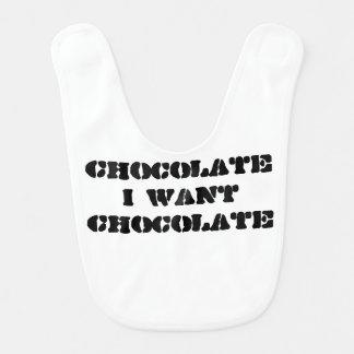 I want Chocolate Bib