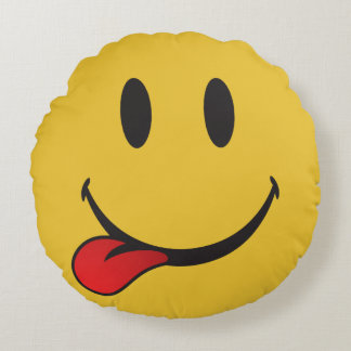 i want food emoji round cushion