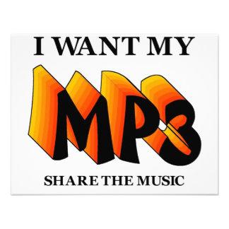 I Want My MP3 Invitation