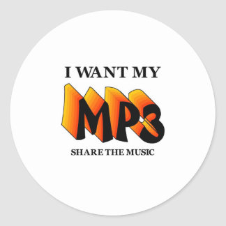 I Want My MP3 Stickers