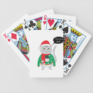 I want my present right may bicycle playing cards