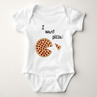 I want pizza baby bodysuit