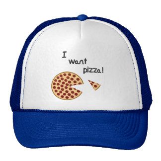 I want pizza hat