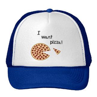 I want pizza hat hats