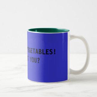 I WANT SOME VEGETABLES! Two-Tone COFFEE MUG