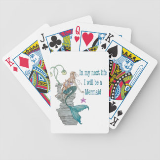 I want to be a Mermaid Bicycle Playing Cards