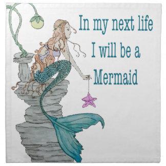 I want to be a Mermaid Napkin
