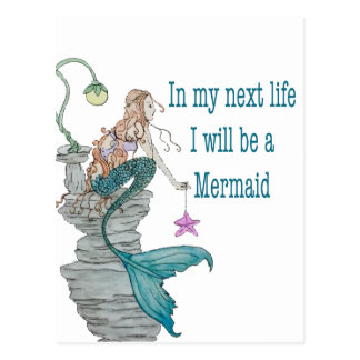 I want to be a Mermaid Postcard