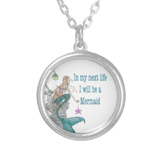 I want to be a Mermaid Silver Plated Necklace