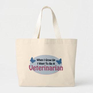 I want to be a Veterinarian Jumbo Tote Bag