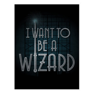 I Want To Be A Wizard Postcard