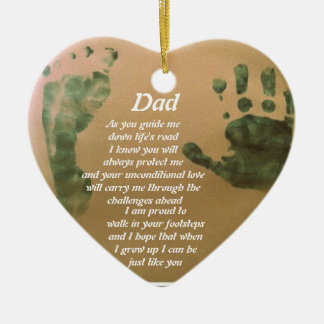I want to be just like you dad ceramic heart decoration