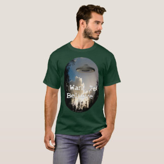 I Want To Believe 2017 Men's Oval Shirt