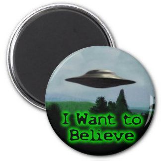I want to believe 6 cm round magnet