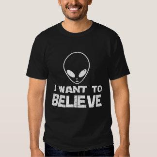 I WANT TO BELIEVE ALIEN TEE SHIRT