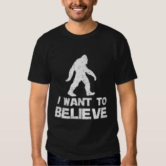I WANT TO BELIEVE BIGFOOT TSHIRT