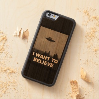 I WANT TO BELIEVE CHERRY iPhone 6 BUMPER CASE