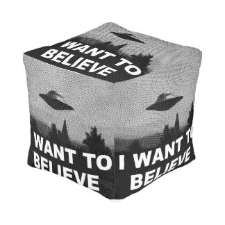 I WANT TO BELIEVE CUBE POUFFE