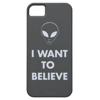 I Want To Believe (dark gray) Barely There iPhone 5 Case