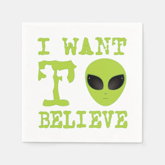I Want To Believe Disposable Serviette