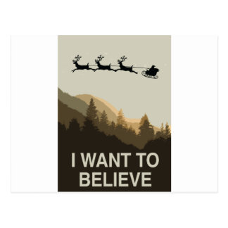 I want to believe in Christmas Postcard