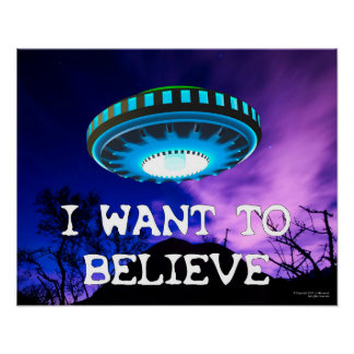 I Want To Believe Indigo, Poster Wall Art