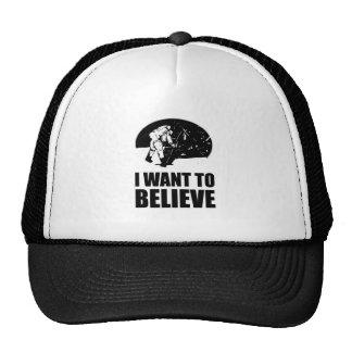 I want to believe - moon landing trucker hats