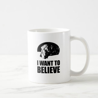 I want to believe - moon landing classic white coffee mug