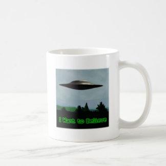 I want to believe basic white mug