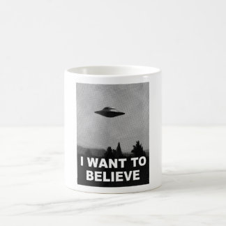 I WANT TO BELIEVE COFFEE MUGS