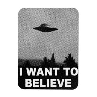 I WANT TO BELIEVE RECTANGULAR PHOTO MAGNET