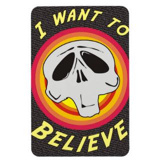 I Want to Believe Rectangular Photo Magnet