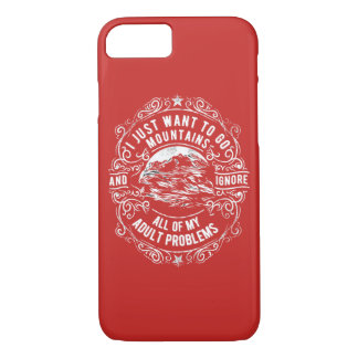 I Want to Go Mountains Glossy Phone Case
