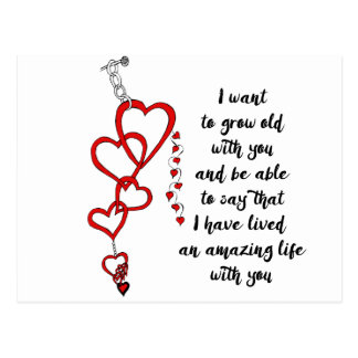 I want to grow old with you postcard