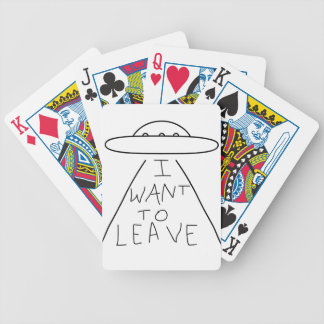 i want to leave bicycle playing cards